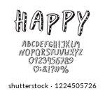 alphabet retro design. letters  ... | Shutterstock .eps vector #1224505726