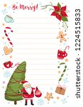 christmas and new year planner  ... | Shutterstock .eps vector #1224515833