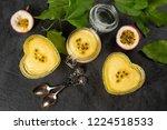 three ramekin with passion... | Shutterstock . vector #1224518533