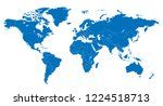 the world and austria map vector | Shutterstock .eps vector #1224518713