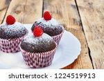 homemade layered honey cake and ... | Shutterstock . vector #1224519913