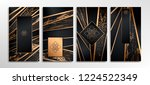 luxury paper cut background ... | Shutterstock .eps vector #1224522349