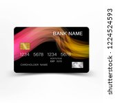 credit cards. with inspiration...   Shutterstock .eps vector #1224524593