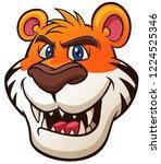 vector illustration of tiger... | Shutterstock .eps vector #1224525346