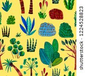 creative seamless pattern with... | Shutterstock . vector #1224528823