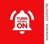 illustration of a bell ringing. ... | Shutterstock .eps vector #1224533740