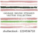 long ink brush strokes isolated ...   Shutterstock .eps vector #1224536710