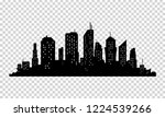 city icon.  town silhouette... | Shutterstock . vector #1224539266