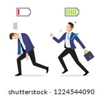 stressed overworked and... | Shutterstock .eps vector #1224544090