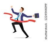 businessman in suit crossing...   Shutterstock .eps vector #1224544099