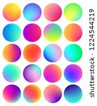 rounded holographic gradient...