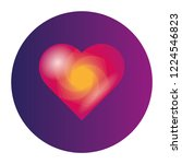 heart 3d icon with circle.... | Shutterstock .eps vector #1224546823