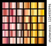 rose gold gradient collection... | Shutterstock . vector #1224550996