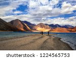 nature's pallette  pangong tso... | Shutterstock . vector #1224565753