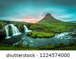 beautiful kirkjufell waterfall... | Shutterstock . vector #1224574000