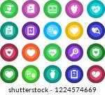 round color solid flat icon set ... | Shutterstock .eps vector #1224574669