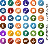 color back flat icon set  ... | Shutterstock .eps vector #1224580786