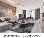 luxurious living room in... | Shutterstock . vector #1224580990