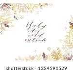 elegant stylish christmas... | Shutterstock .eps vector #1224591529