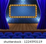 concert hall with rows of... | Shutterstock .eps vector #1224593119