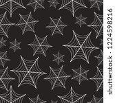 seamless spiderweb pattern   Shutterstock .eps vector #1224598216