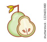 fresh pears fruit isolated icon | Shutterstock .eps vector #1224601480