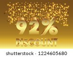 92  off discount promotion sale ... | Shutterstock .eps vector #1224605680