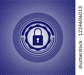 closed lock icon inside jean...   Shutterstock .eps vector #1224606013