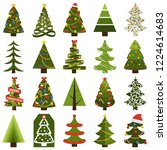 christmas trees in natural... | Shutterstock . vector #1224614683