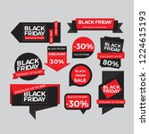 set of discount black friday... | Shutterstock .eps vector #1224615193