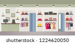 women's clothing store with... | Shutterstock . vector #1224620050