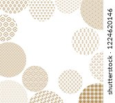 japanese pattern  decorated... | Shutterstock . vector #1224620146