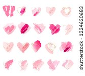 set of 20 hearts on a white... | Shutterstock .eps vector #1224620683