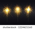 golden sparklers that spread... | Shutterstock . vector #1224621163