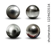 set of steel or silver balls... | Shutterstock .eps vector #1224623116