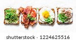 variety of sandwiches for... | Shutterstock . vector #1224625516