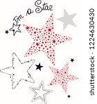 stars vector art print | Shutterstock .eps vector #1224630430