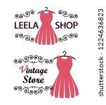 pink woman dress fashion shop... | Shutterstock .eps vector #1224636823
