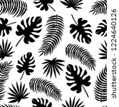 seamless pattern with black... | Shutterstock . vector #1224640126