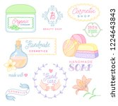 a set of labels and objects for ... | Shutterstock .eps vector #1224643843