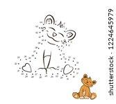 dot to dot game. educational... | Shutterstock . vector #1224645979