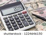 calculator with money   2019 | Shutterstock . vector #1224646150