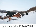 winter in schwarzwald. snow...   Shutterstock . vector #1224647689