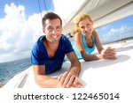 Cheerful Couple Cruising On A...