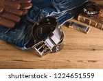 closeup rock style genuine... | Shutterstock . vector #1224651559