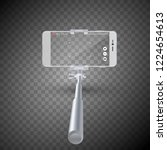 vector illustration of monopod... | Shutterstock .eps vector #1224654613