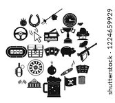 game of chance icons set.... | Shutterstock .eps vector #1224659929