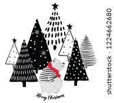 winter vector seamless pattern...   Shutterstock .eps vector #1224662680