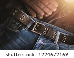 blue jeans with rock style of... | Shutterstock . vector #1224672169