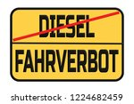 driving traffic signs for... | Shutterstock . vector #1224682459